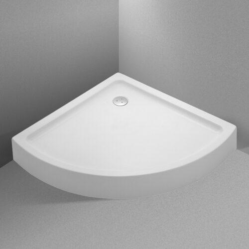 Acryl opbouw douchebak kwartrond model 80-90-100 cm