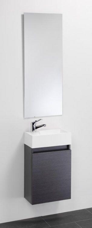 Toiletmeubel,fonteinkast compleet met spiegel