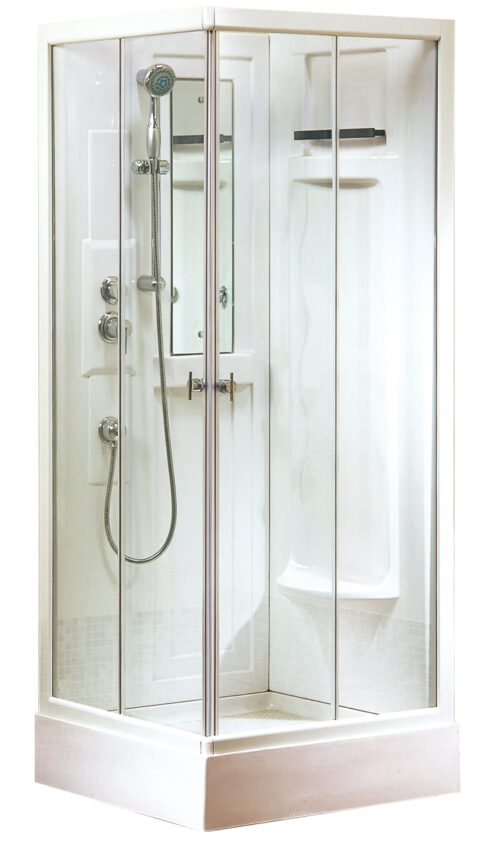 gesloten douchecabine in 80 x 80 cm
