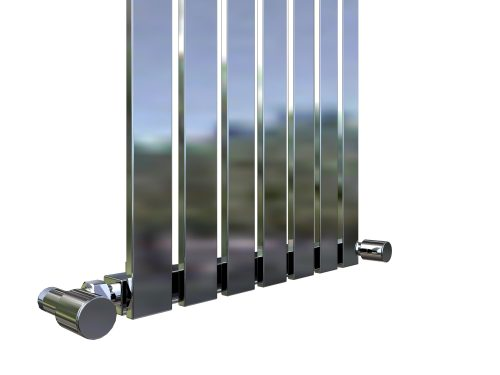 Design Radiator Idell in Wit / Chrome / Zwart