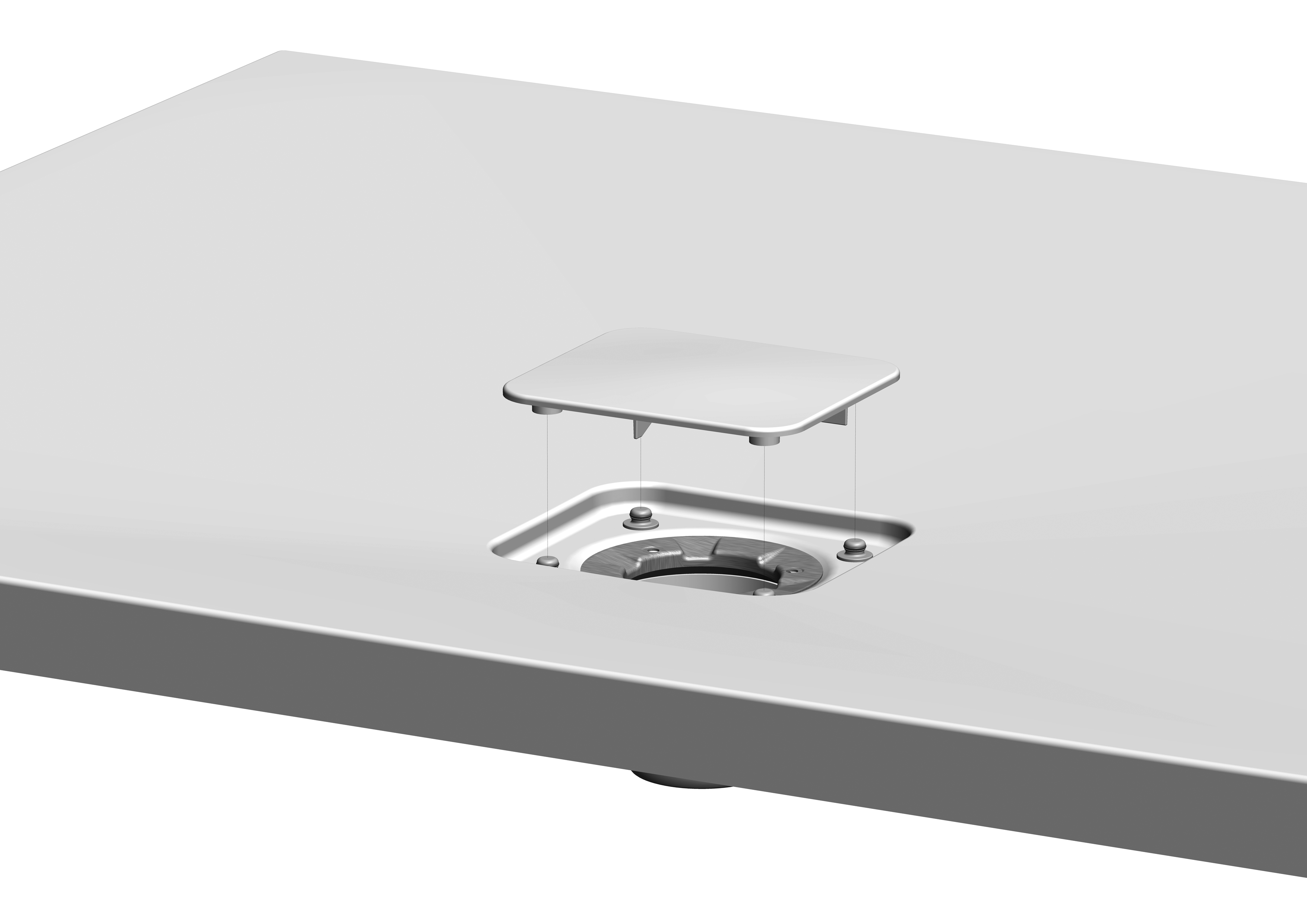 inloopdouches met decorstrook van matglas leverbaar in 8