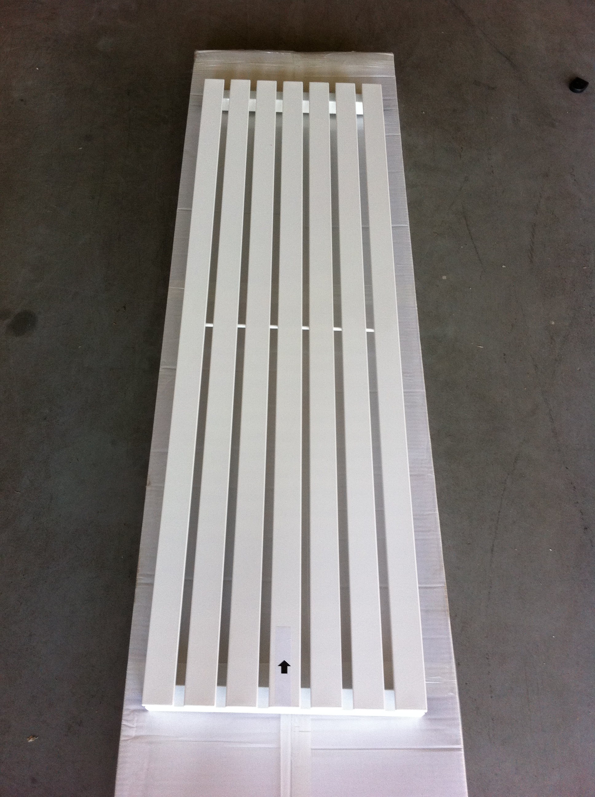 design radiator idell in wit chrome zwart douchecabine