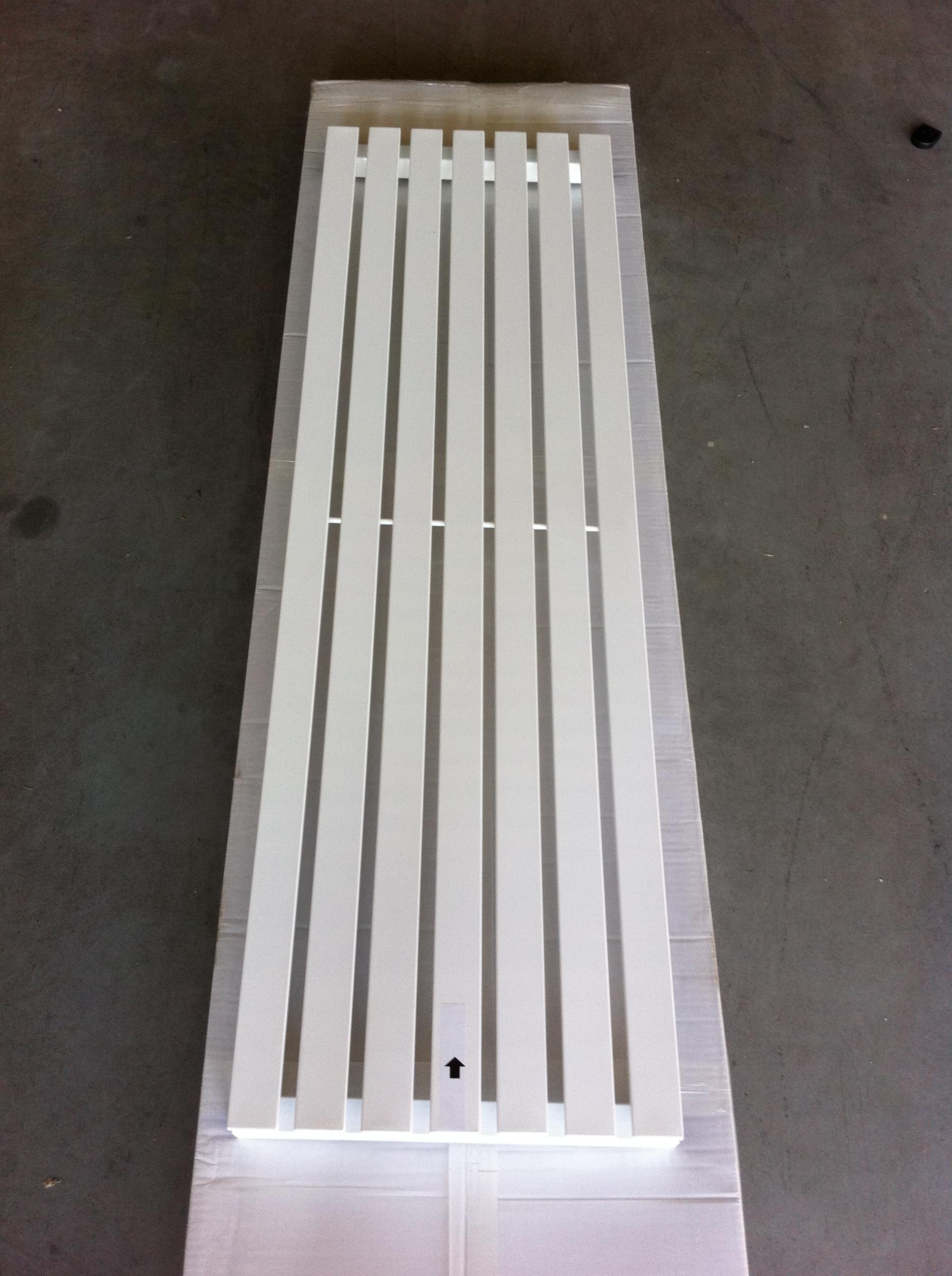 design radiator idell in wit chrome zwart douchecabine