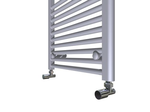 Design Radiator Lyda in Chrome en Wit