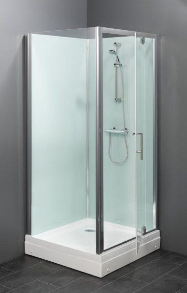 Trento BW rondom gesloten douchecabine met een deur die zowel naar links als rechts openend te plaatsen is.