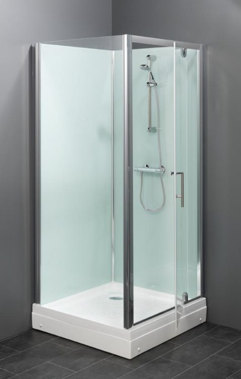 Trento Basic BW gesloten douchecabine met een draaideur