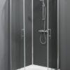 Trento Basic SG rondom gesloten douchecabine met grijze achterwanden