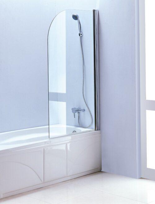 Verona S.82 draaibaar badscherm 80 x 140 cm