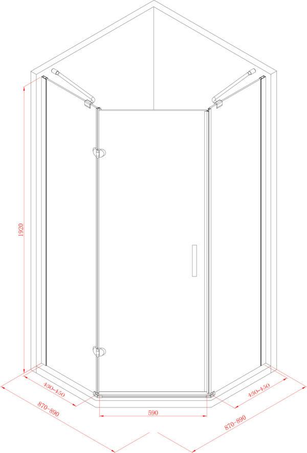 douchecabine-vijfhoek-1-deur-90