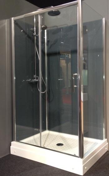 Rondom gesloten douchecabine Trento Basic RW.G (grijsglas)