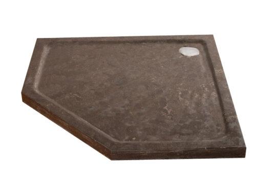 Natuursteen (hardsteen) douchebak vijfhoek model