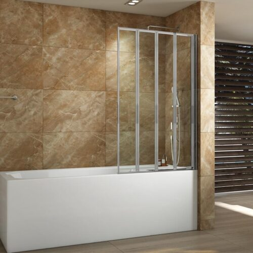 Badwand 4-delig vouwbaar 85 x 140 cm