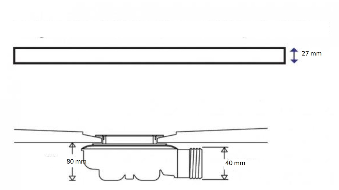 slate leisteenlook douchebak kwartrond model. Black Bedroom Furniture Sets. Home Design Ideas
