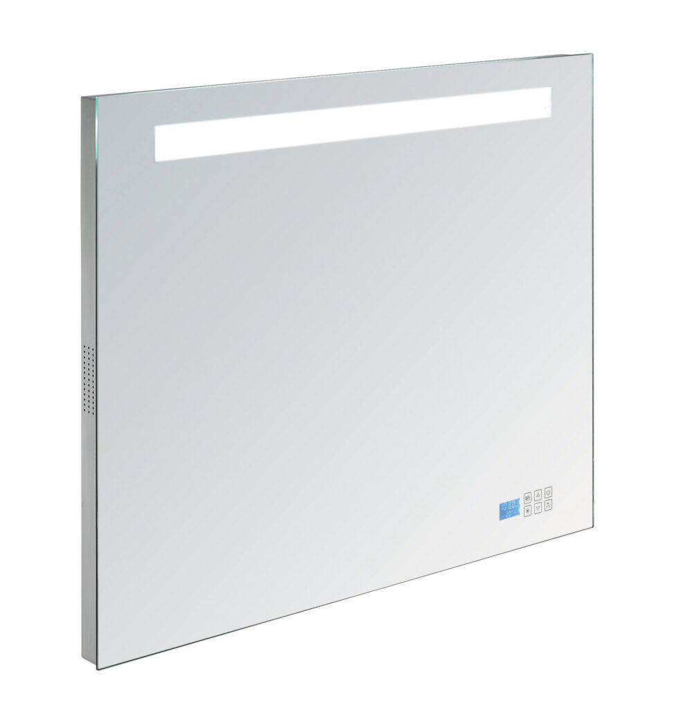 Badkamer spiegel met radio en temperatuur sensor
