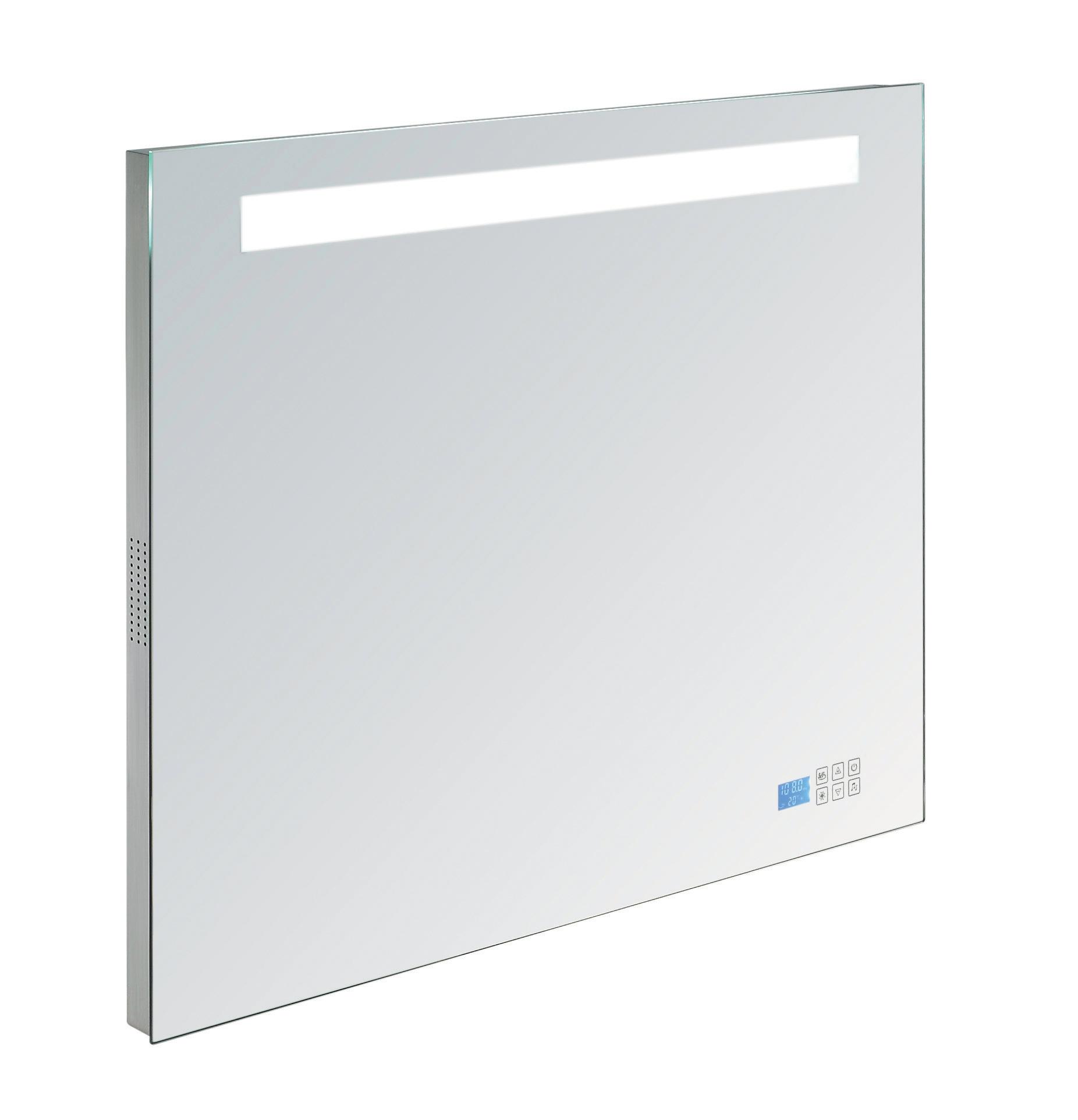 Badkamer spiegel met verlichting en Bluetooth radio - Douchecabine.nl