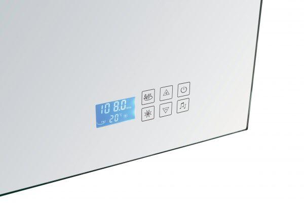Touchsreen voor badkamer spiegel met radio