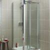 Vierkante douchecabine met vouwdeur