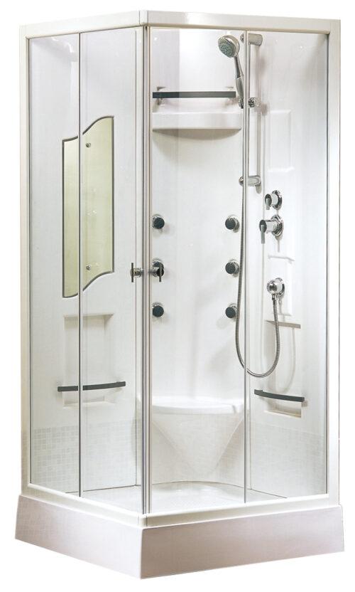 rondom gesloten douchecabine