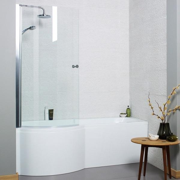 Douchebad met badscherm