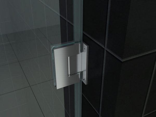 Scharnier van de douche nisdeur