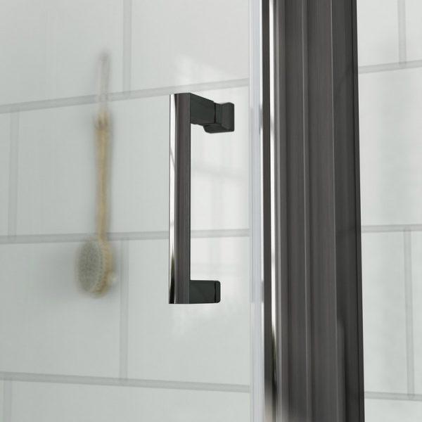 Zwart douchedeur handvat