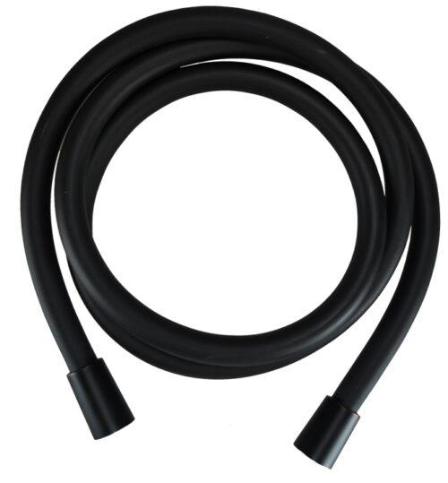 Luxe kunststof zwarte doucheslang 150cm