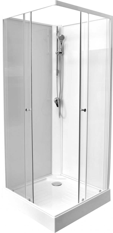 Budgetprijs Turino 219 rondom gesloten douchecabine in 80x80 cm