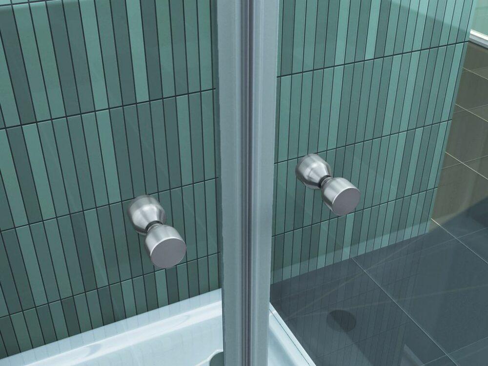 U vorm douchecabine met een glas hoogte van 180 cm