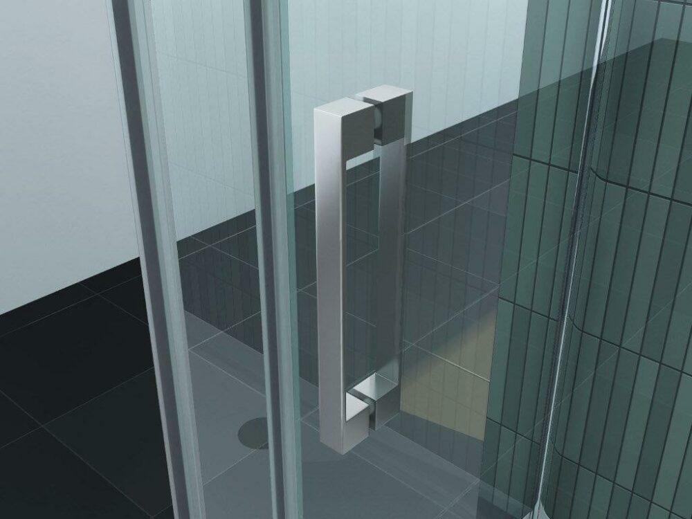 U-vorm douchecabine handvat deurgreep