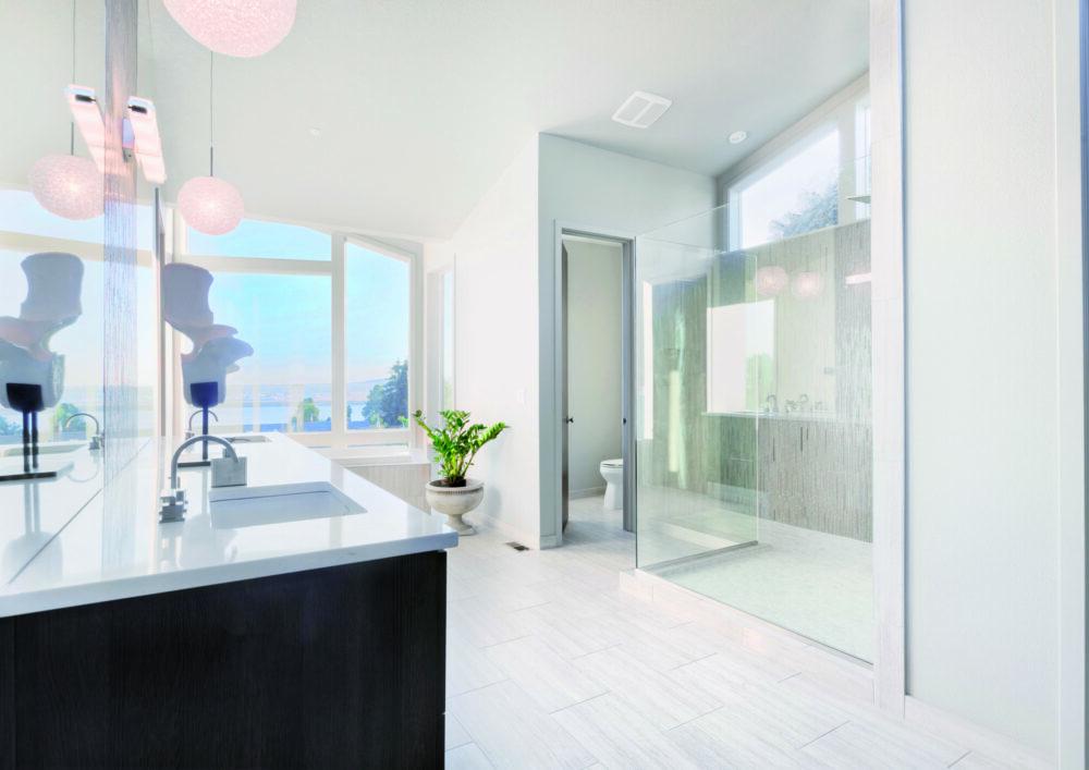 badkamer met waterontharder