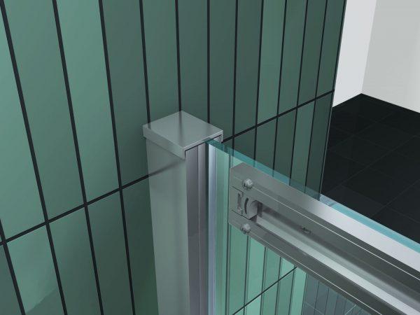 Badwand met schuifdeur