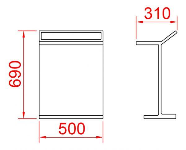 Solid Surface vrijstaand handdoek rek