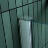 Vierkante douchecabine 90 x 75 cm hoogte 180 cm