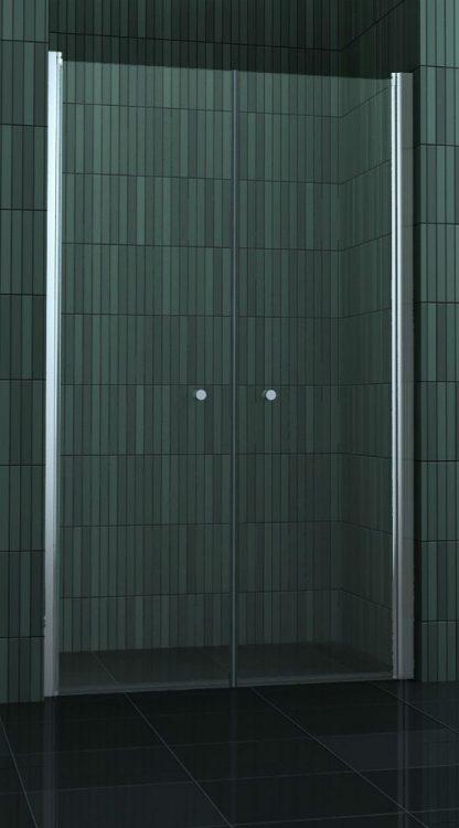 Douchedeuren van 75 cm-104 cm met een hoogte van 180 cm