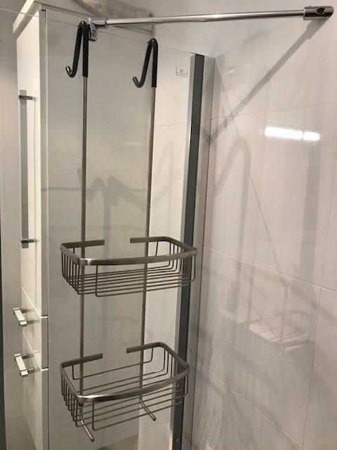 douchekorf geborsteld staal
