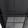 inloopdouche mat zwart industriële look