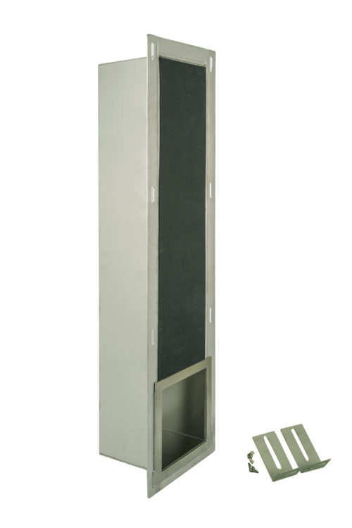 RVS 304 geborsteld inbouwnis reserve toiletrol houder