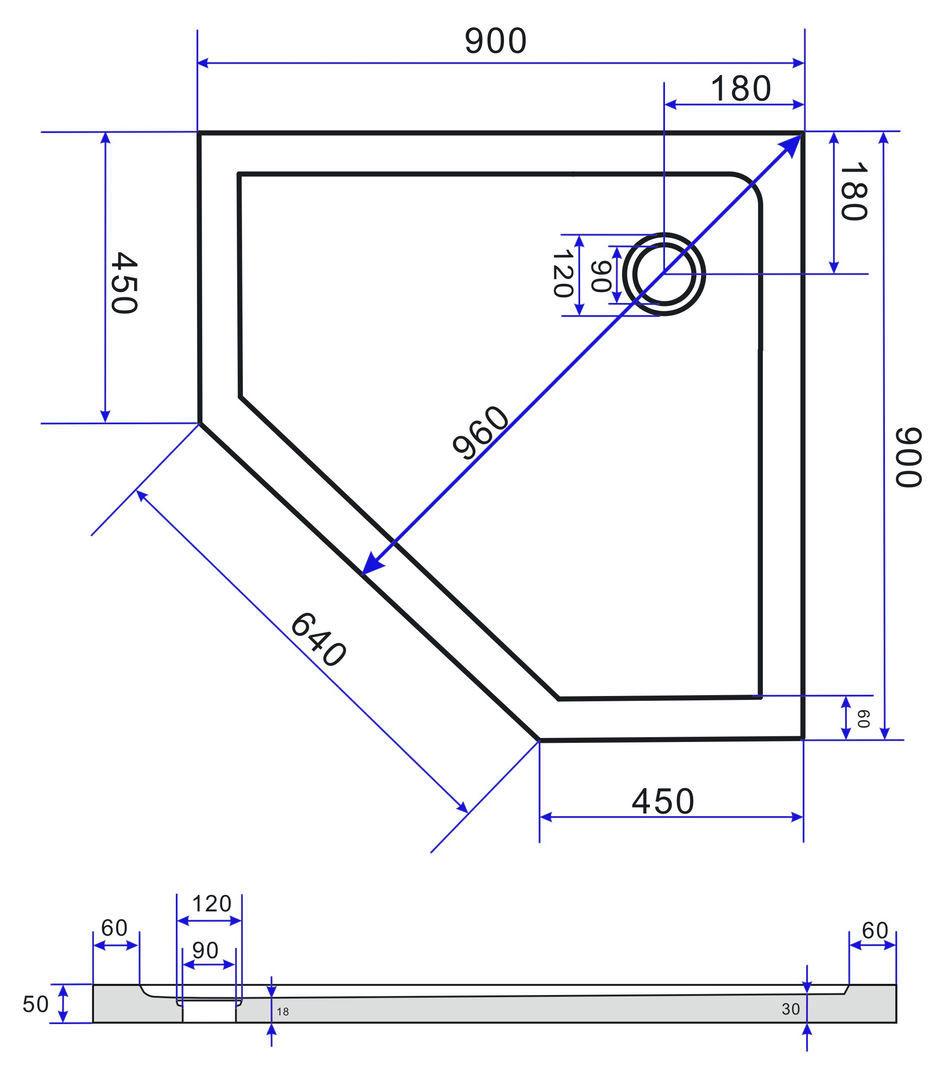 Douchebak vijfhoek model