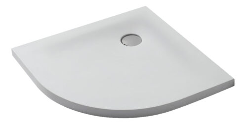 Solid Surface douchebak kwartrond model 80-90 cm