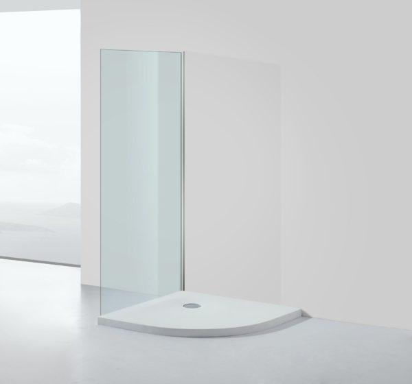 Solid Surface douchebak kwartrond model