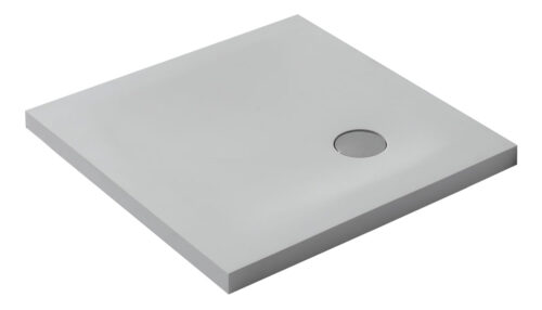 Solid Surface douchebak vierkant model 80-90-100 cm