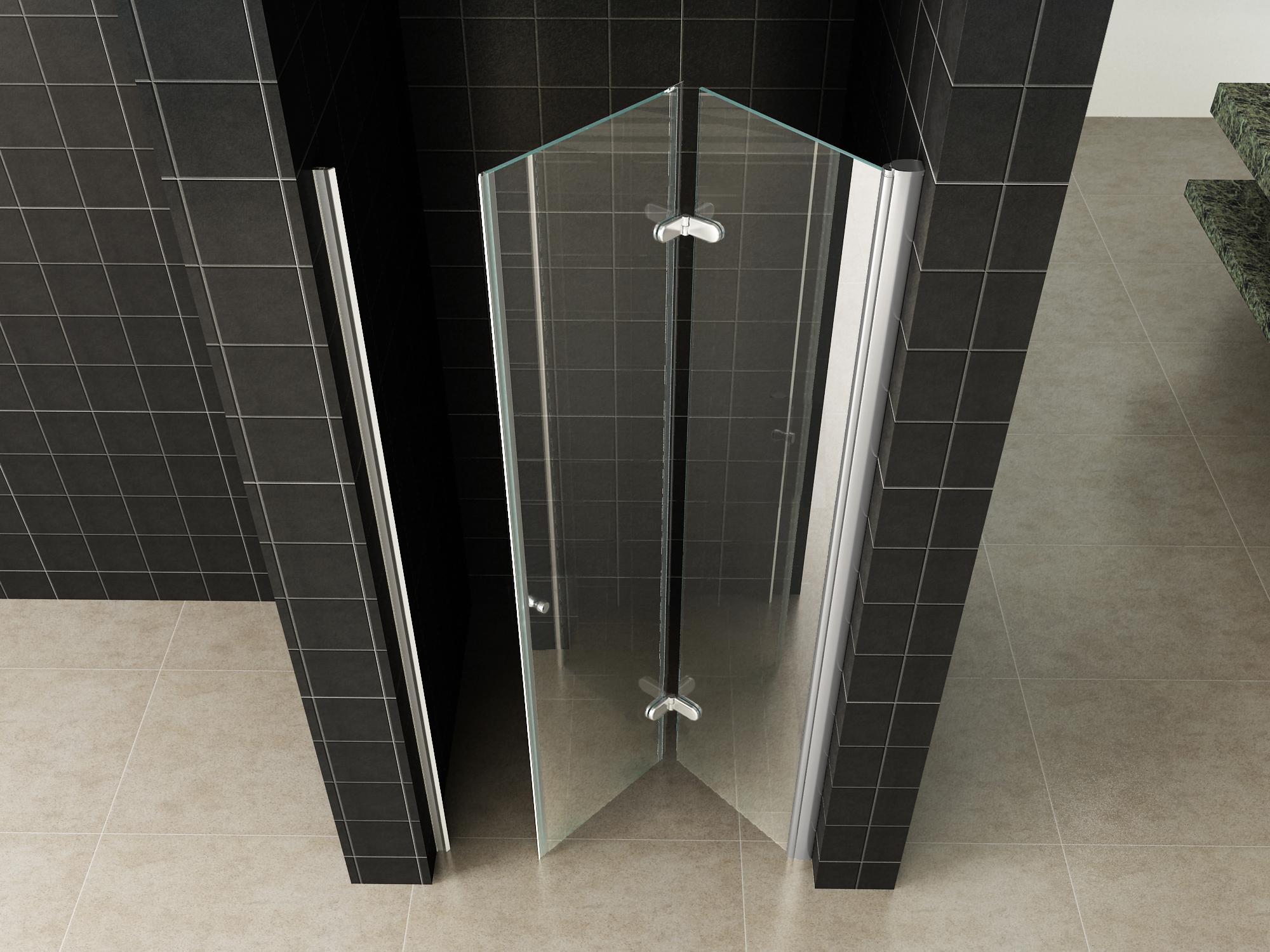 Douchedeur wiesbaden nisdeur vouwdeur rechts  cm