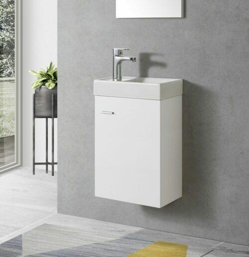 Wit Toiletmeubel met keramiek wasbak