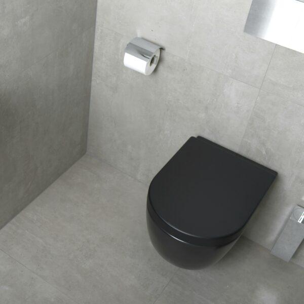 zwarte toiletpot