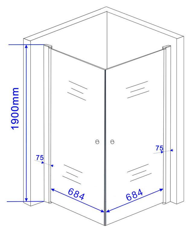 Douchecabine met matglas voor extra privacy