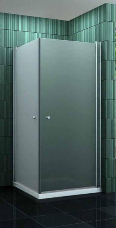 Douche-Design Matglas met dubbele swingdeuren