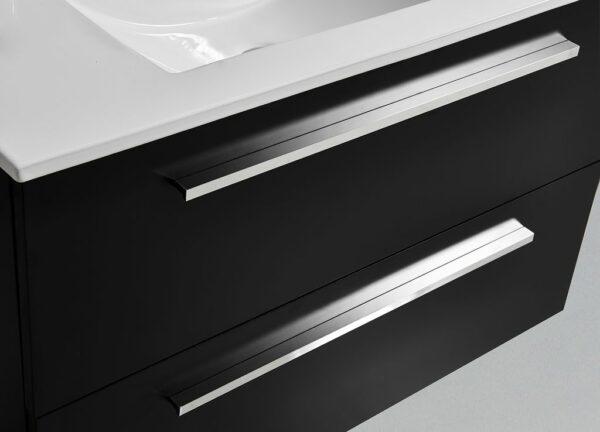 Aluminium handgrepen badmeubel Palermo zwart