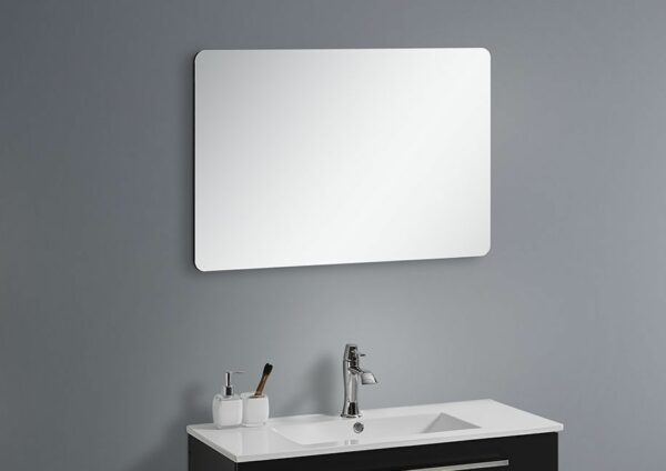 Badkamer spiegel zwart