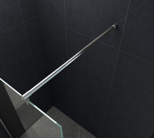 Stabilisatiestang 140 cm. voor glaswanden van 8 – 10 mm.