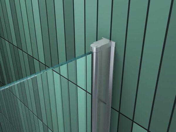 Aluminium profiel van douchecabine met draaideur en vaste zijwand